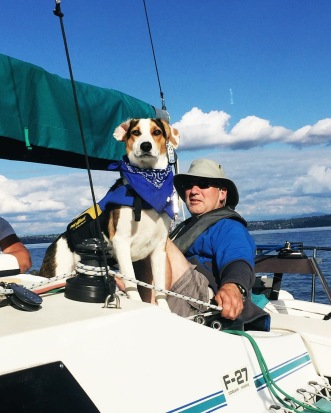 He spent his first summer sailing around Seattle