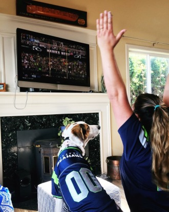 He has grown into an avid Seattle Seahawks fan